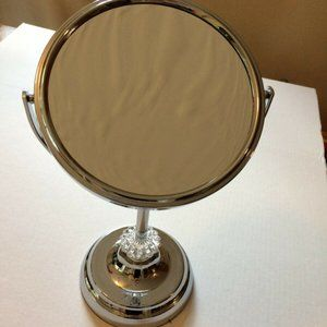 Bath - Freestanding Bath Magnifying Makeup Mirror Jeweled